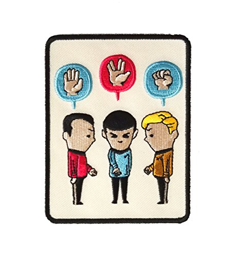 'Paper, Scissors, Rock' Funny Space Show Parody - Iron on Embroidered Patch (Paper Patch)