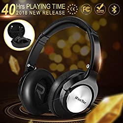 Bluetooth Headphones Over Ear, iFuntec Wired Wireless Headphones Premium Comfort Hi-Fi Stereo CSR Headphone Headset Lightweight for Travel Work Computer Cellphone with Carrying Bag(40 Hrs Playtime)