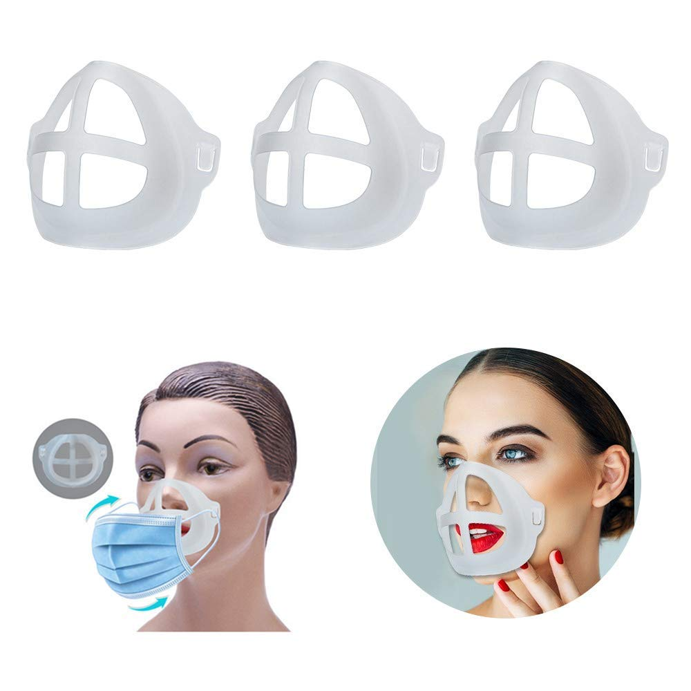 befriadss 3D Bracket 3PCS Lipstick Protection Cool Mask Bracket for Summer for Running for Kids fo adult : Beauty