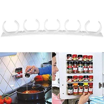 1//4Pcs Clip N Store Home Kitchen Organizer Stick Spice Wall Rack Storage Gripper