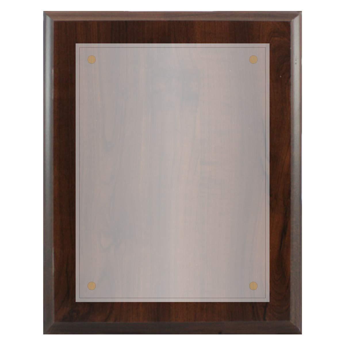 Black, 5x7 5 x 7 Board with 3.5 x 5 Plexiglass Coated Black Wood Board