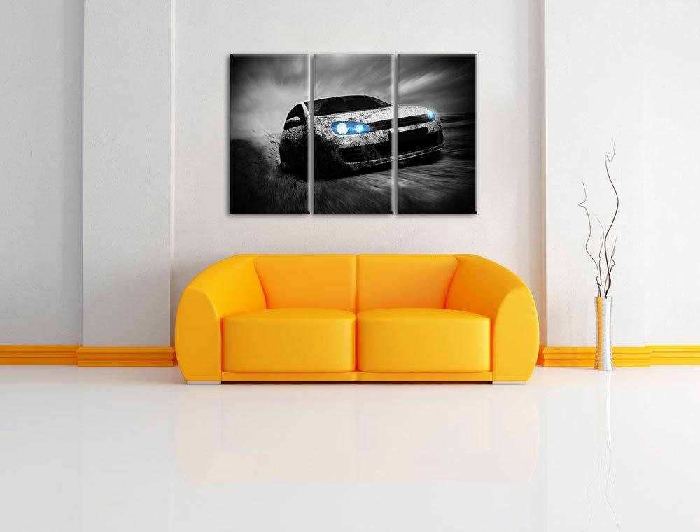 Amazon.de: VW golf GTI weiß Dark 3-Teiler Leinwandbild 120x80 Bild ...