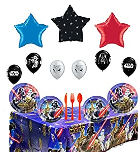 Star Wars Party Supply and Balloon Decoration Bundle