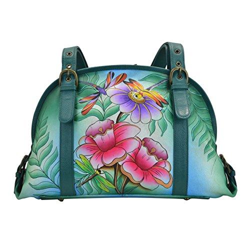 ANUSCHKA, Borsa a secchiello donna multicolore Flower and Dragonfly