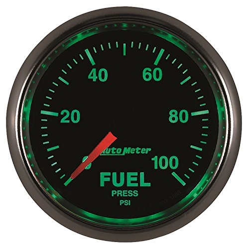 "Auto Meter 3863 GS 2-1/16"" 0-100 PSI Full Sweep Electric Fuel Pressure Gauge"