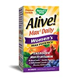 Nature's Way Alive! Max3 Daily Women's Multivitamin, Food-Based Blends (1,130mg per serving) and Antioxidants, 90 Tablets