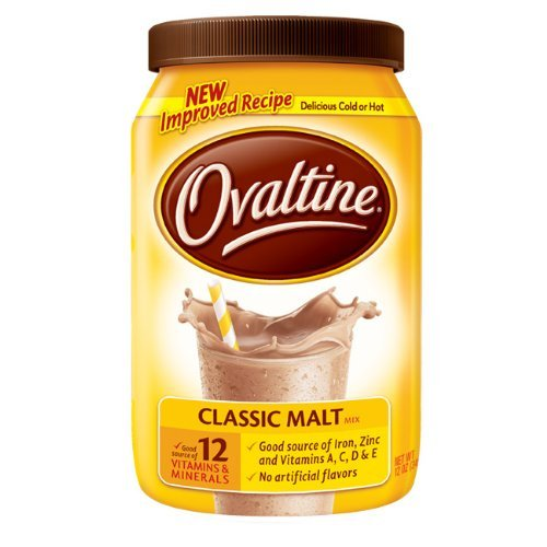 Nestle Ovaltine Classic Malt Beverage, 12-ounce Canisters Tubs (Pack of 3)