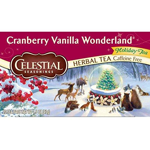 Celestial Seasonings Herbal Tea, Cranberry Vanilla Wonderland, 20 Count (Pack of - Celestial Cranberry Seasonings
