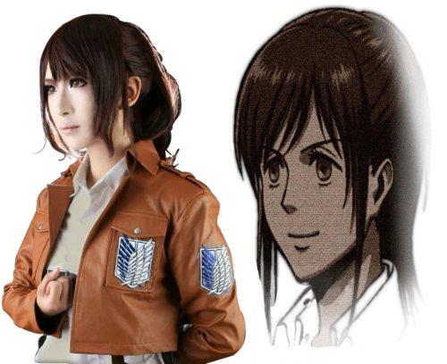 Anangelhair+ Free Hair Cap Japanese Anime Attack on Titan Cosplay Wig Ponytail - Aot Sasha Costume