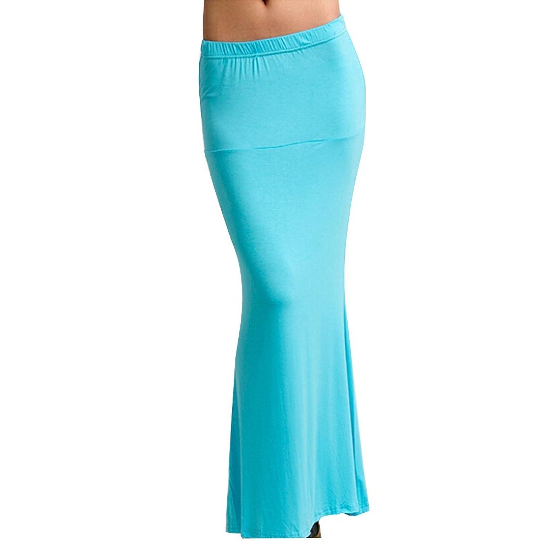 Gilroy Summer Casual Women鈥檚 Maxi Long Flared Fishtail Skirt