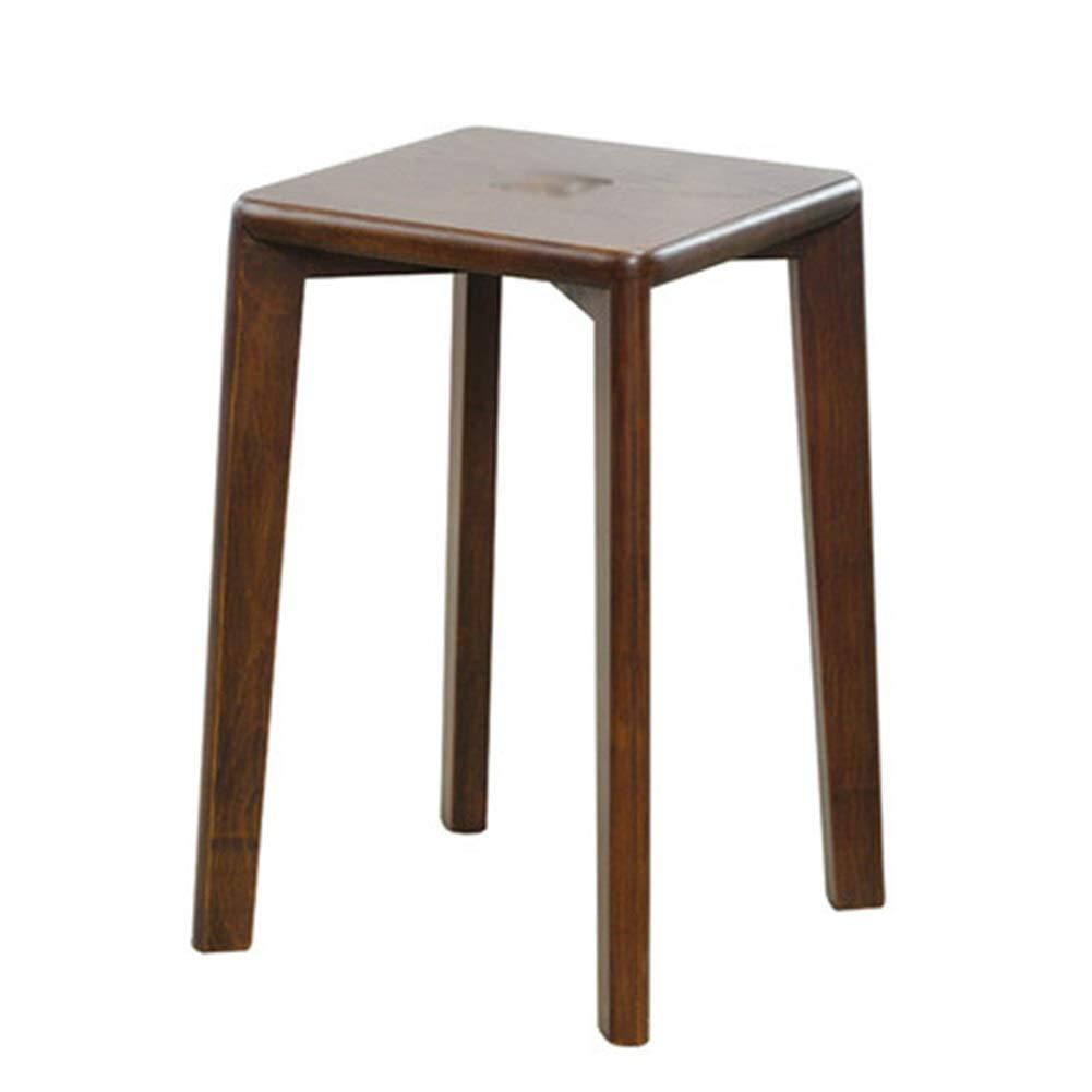 KDJHP - 木製ベンチ 木製のベンチ - 無垢材スツールホームハイベンチスクエアスツールリビングルームダイニングテーブルスツールロースツールダイニングスツール - 8506 B07TW5WN83