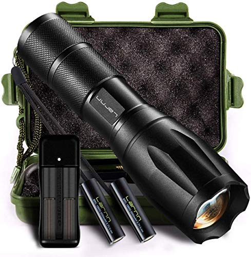 Led Tactical Flashlight, Handheld Flashlights Super Bright Flashlights for Camping Hiking & Outdoor Activities