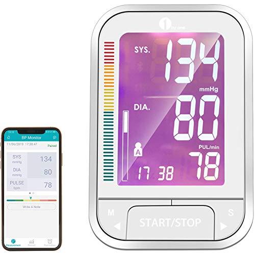 1byone Blood Pressure Monitor Upper Arm Cuff with App (Monitor Blood Pressure Ipad)