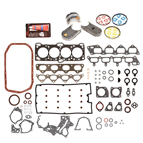 Evergreen Engine Rering Kit FSBRR5007-2EVE\0\0\0 95-05/97 Mitsubishi Eagle Turbo 3rd Gen 4G63T Full Gasket Set, Standard Size Main Rod Bearings, Standard Size Piston - Support Bearing 3rd