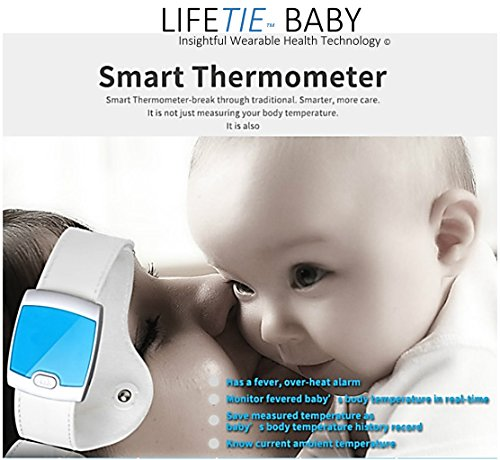 LIFETIETM BABY'S Smart Thermometer is safe and user friendly (Blue,White)