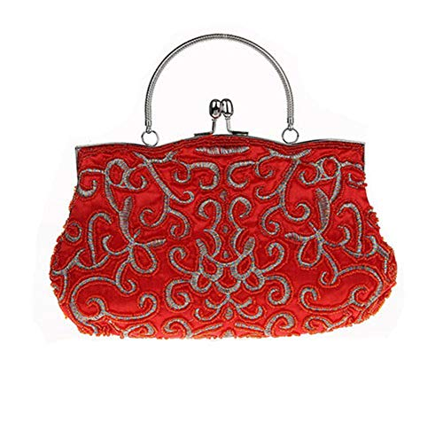 Vintage Two Sided Fashion Beaded Evening Bag,Noble Elegant Pearl Clutch Bags as picture1