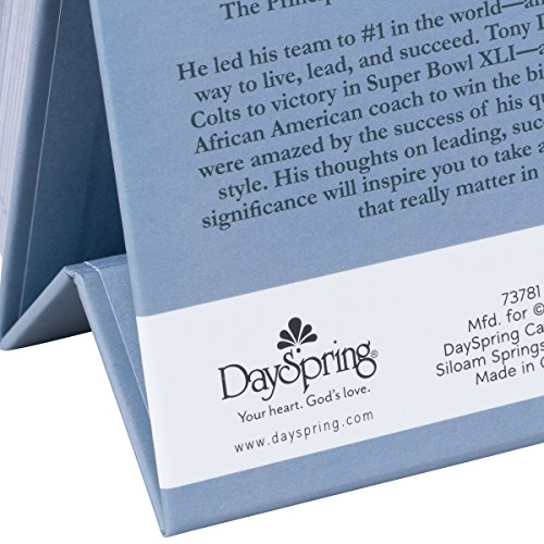 DaySpring Tony Dungy's Quiet Strength, DayBrightener Perpetual Flip Calendar, 366 Days of Inspiration (73781) Photo #5