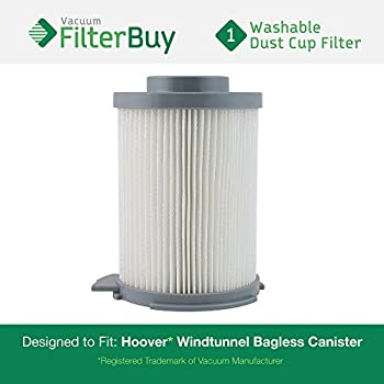 Hoover WindTunnel Washable & Reusable Bagless Canister Filter. Designed by FilterBuy to replace Part # 59134033.