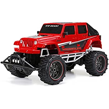 Amazon new bright chargers ff 4 door jeep rc vehicle 118 new bright rc ff 4 door open back jeep includes 96v sciox Gallery