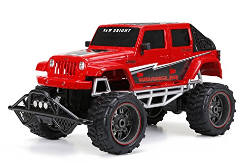 New Bright R/C F/F 4-Door Open Back Jeep Includes 9.6V Power Pack, Batteries & Charger (1:8 Scale), - Control Chargers Radio Battery