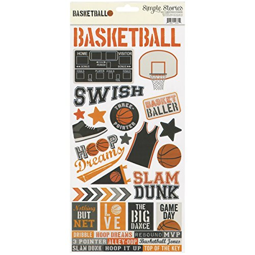 - Simple Stories SSBK7856 Simple Sets Basketball Cardstock Stickers 6