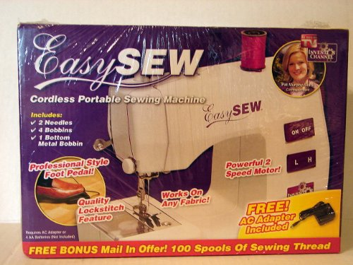 Easy Sew Portable Sewing Machine - As Seen on Tv by Easy Sew by Invention Chanel