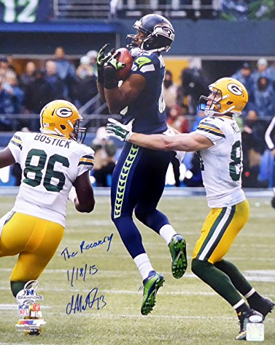 "Chris Matthews Autographed 16x20 Photo Seattle Seahawks ""The Recovery 1/18/15"" MCS Holo #21375"