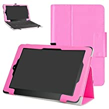 """RCA 10 Viking Pro 10.1 Case,Mama Mouth PU Leather Folio 2-folding Stand Cover with Stylus Holder for 10.1"""" RCA 10 Viking Pro Tablet,Pink"""
