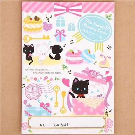 Planificador tareas A5 bloc libreta lindo gato regalo macaron de Japón: Amazon.es: Juguetes y juegos