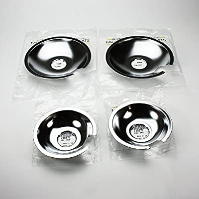Jenn Air Range Cooktop Drip Pan Set of 4, (2) 715877 & (2) 715878