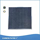 12x24x1 Activated Carbon Particles A/C Furnace Air Filters, Steel Frame