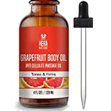 GRAPEFRUIT BODY ESSENTIAL OIL, Anti Cellulite Treatment Massage Oil - All Natural Ingredients – Penetrates Skin 6X Deeper Than Cellulite Cream - Improves Skin Firmness, 120ml (4oz) review