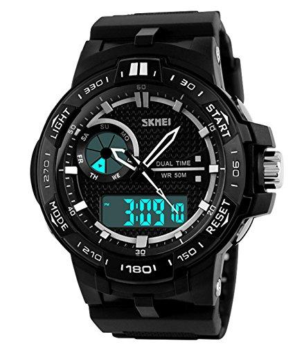 Mixeshop Multi Function Military Sports Watch Analog Digital Waterproof Alarm
