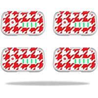 Skin For DJI Phantom 3 Drone Battery (4 pack) – Red Houndstooth | MightySkins Protective, Durable, and Unique Vinyl Decal wrap cover | Easy To Apply, Remove, and Change Styles | Made in the USA