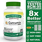 Curcumin as BCM-95 (CURCUGREEN) 650mg Turmeric Complex (500mg Total Curcuminoids) Non-GMO Soy Free 60 softgels