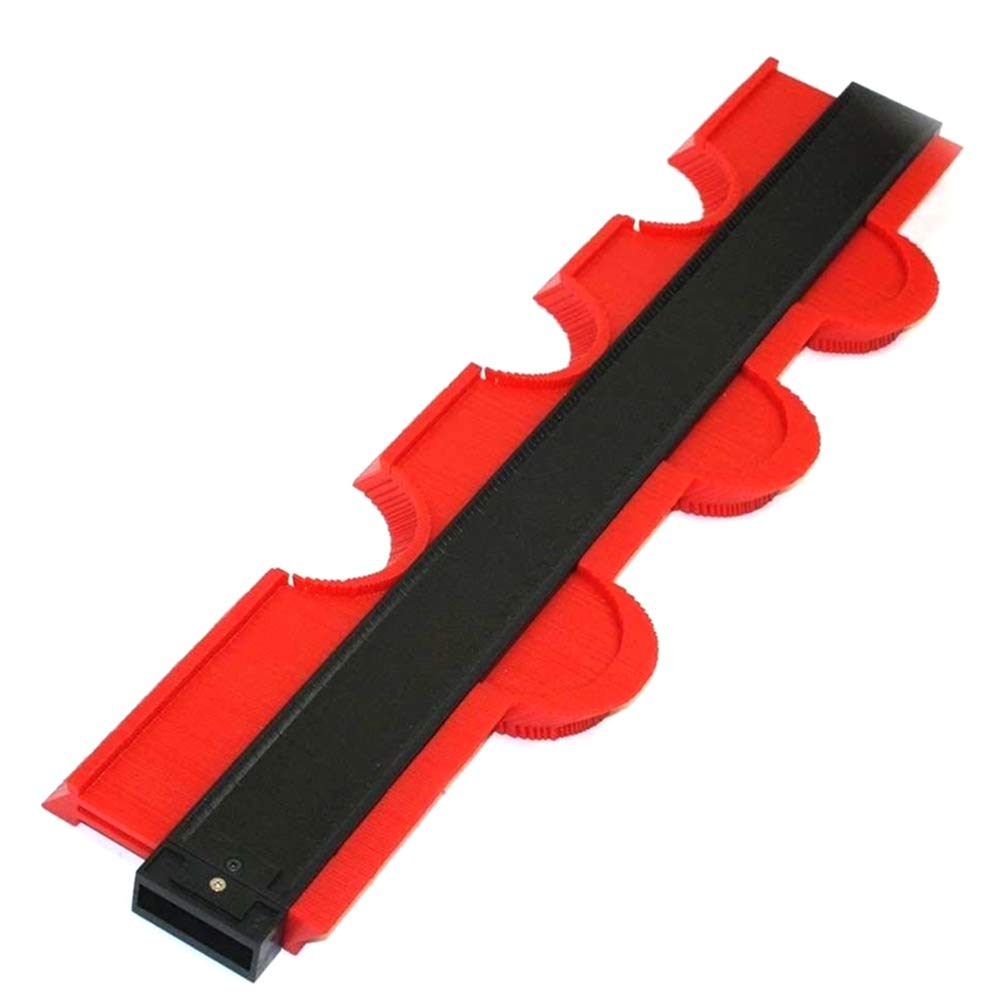 Zoomarlous Profile Gauge,Professional 10Inch Contour Profile Gauge Tiling Laminate Tiles General Tools Duplicator