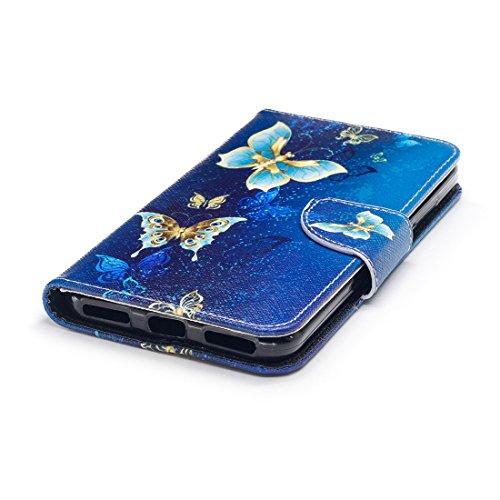 5A Flip cas support en étui peint fermeture fente Redmi d'impression Note magnétique en conception PU cuir Y1 portefeuille Xiaomi Butterflies Hozor avec carte pour de avec aérosol protection wqZOFXIx
