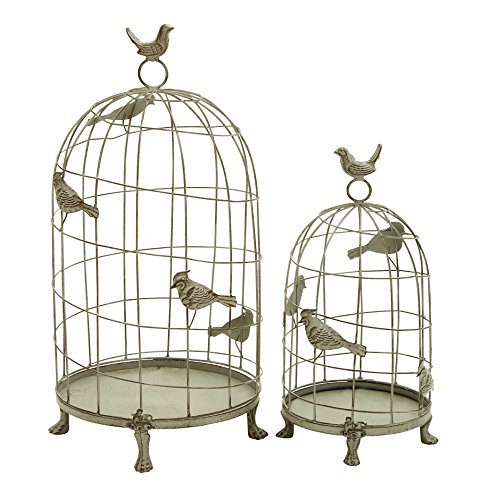Benzara Classic Mix of Elegance and Grandiose Birdcage, Set
