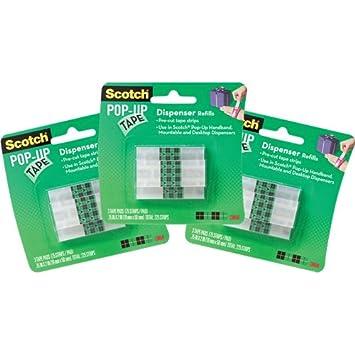 Scotch Pop-up Lot de 3 paquets de recharges pour le distributeur mains libres Scotch 3M GT500067555