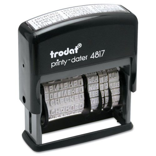 (6 Pack Value Bundle) USSE4817 Trodat Economy 12-Message Stamp, Dater, Self-Inking, 2 x 3/8, - Inking System