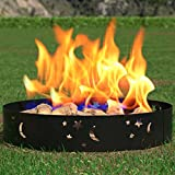 Regal Flame Boston Backyard Garden Home Star and Moon Light Wood Fire Pit Fire Ring. For RV, Camping, and Outdoor Fireplace. Works as Firewood Patio Heater, Stove or Firebowl without Propane Gas