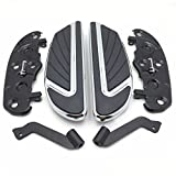 Chrome Airflow Rider Footboard Kit For 2012-2016 FLD/ 1986-later FL Softail (except FLS, FLSS, FLSTFB, FLSTFBS and FXSE)/ 1986-later Touring and 2008-later Trike models