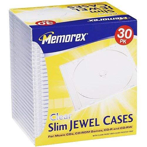 - Memorex 30-Pack Slim CD/DVD Jewel Case