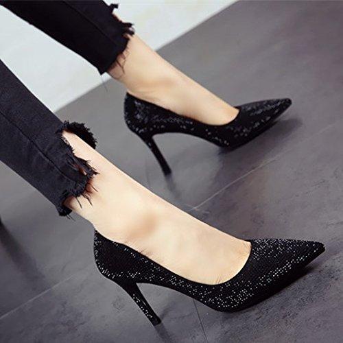 FLYRCX Im europäischen Stil Persönlichkeit Mode flach Flach dünne hohe Schuhe temperament Ferse Ferse single Lady schuhe party Schuhe