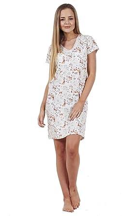 e562c6742cf2 BHS Ladies Printed Cotton Nightdress Womens Short Sleeve Cami Nightie