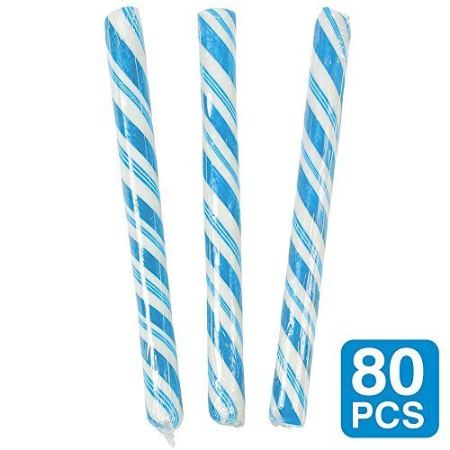 Blueberry Light Blue Candy Sticks (1-Pack of 80)