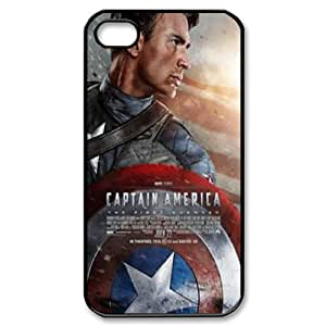 Captain America Shield (2D) Silicone Case for iPhone 4S Cover ATR072365