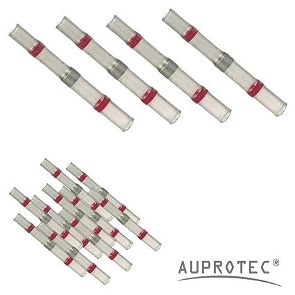 10 - 100 Conectores termocontraíbles Empalmes de soldatura rojo Ø 3mm 0,5 - 1