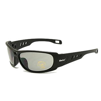 EnzoDate Daisy C6 polarizado Gafas de Sol Gafas de Militares del ejército de ballstic RX Insert Agencia de Guerra Juego tactico Gafas (Negro, ...