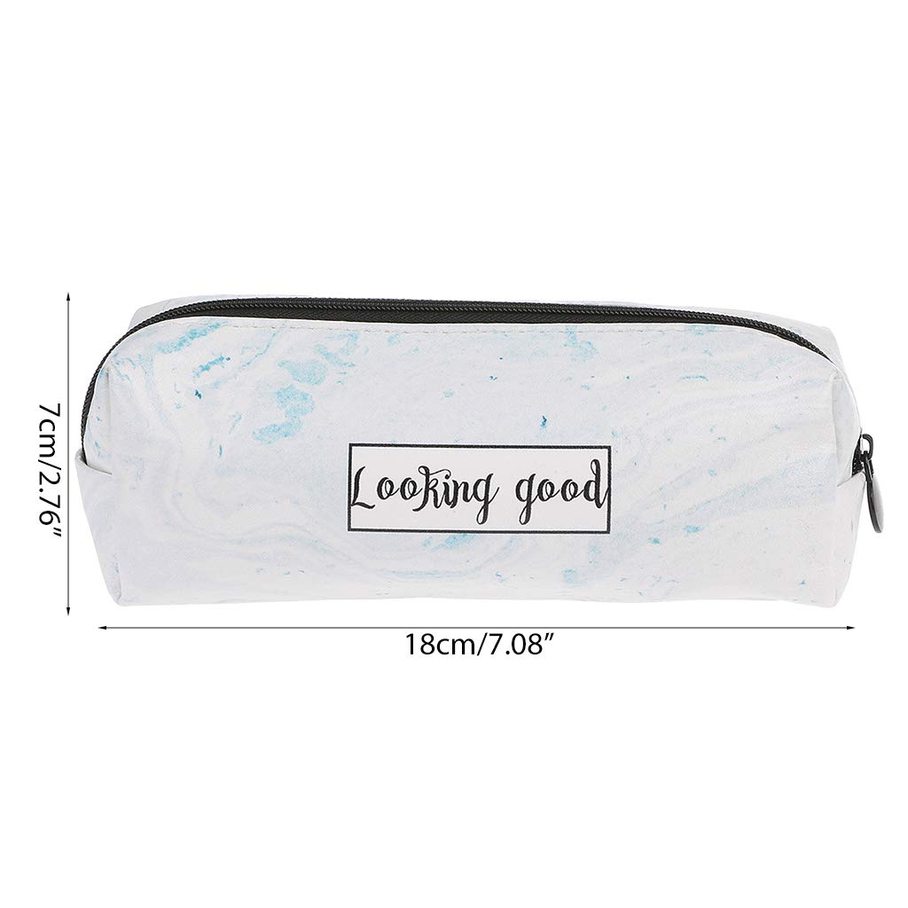 Amazon.com : Cher9 Marble Pencil Case Stationery School ...